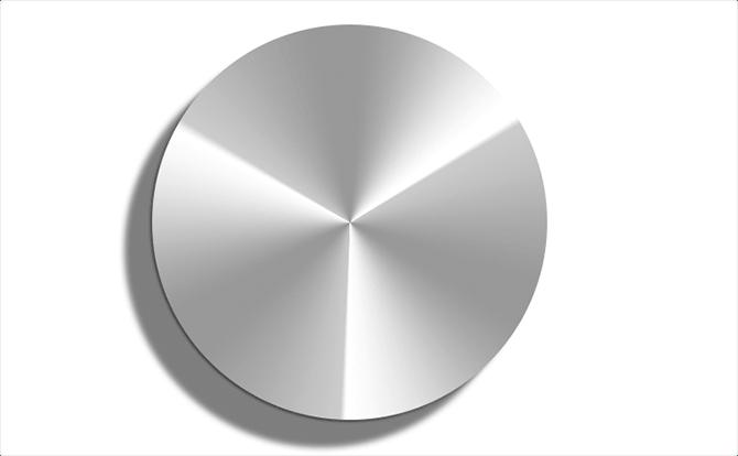 3箇所に強いハイライトが入った円形のグラデーション