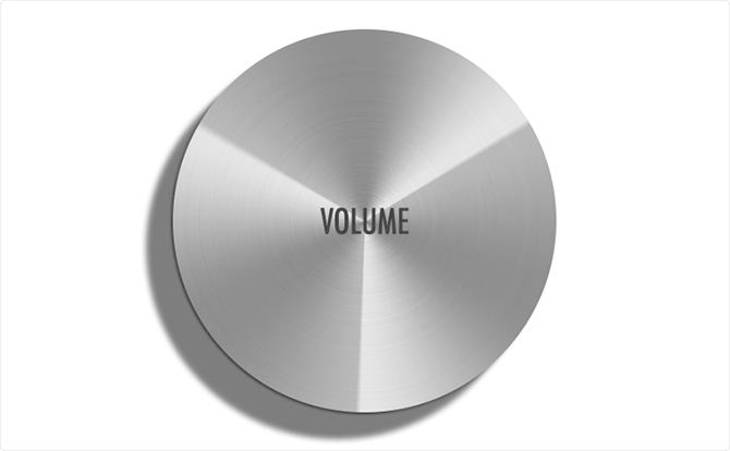 円形で作る「メタリックボタン」